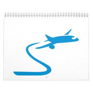 Blue airplane calendar
