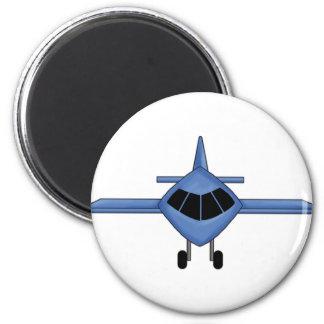 Blue Airplane Fridge Magnet