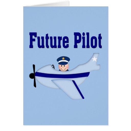 Blue Airplane Future Pilot Greeting Card