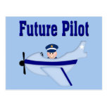 Blue Airplane Future Pilot Postcard