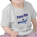 Blue Airplane Future Pilot Tshirts