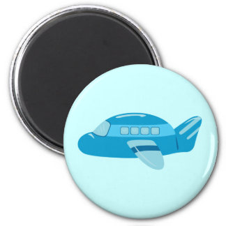 Blue Airplane Magnets
