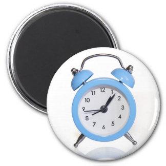 Blue alarm clock 2 inch round magnet