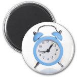 Blue alarm clock magnet