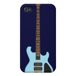 Blue Alembic Bass Guitar iPhone 4 Cases
