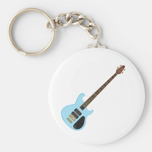 Blue Alembic Bass Guitar Key Chains