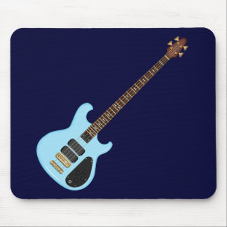 Blue Alembic Bass Guitar Mouse Pad