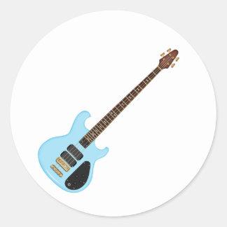 Blue Alembic Bass Guitar Classic Round Sticker