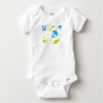 Blue Alien Baby Onesie