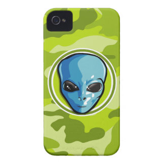 Blue Alien; bright green camo, camouflage iPhone 4 Cover