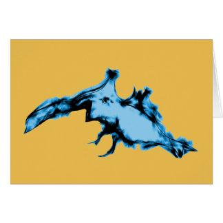 Blue Alien Creature Card