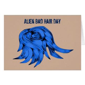 Blue Alien Hair Card