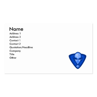 Blue Alien Logo Business Card