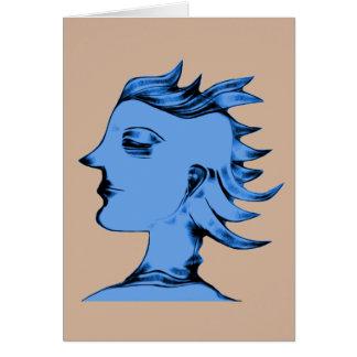 Blue Alien Male Card