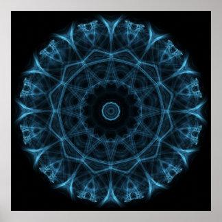 blue alien poster