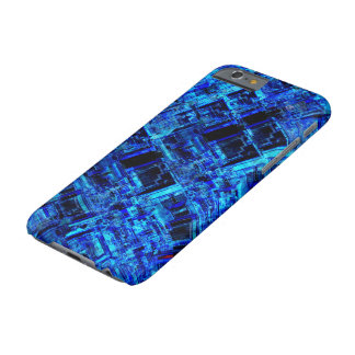 Blue Alien Space Metal Grid Barely There iPhone 6 Case