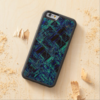 Blue Alien Space Metal Grid Carved Cherry iPhone 6 Bumper Case