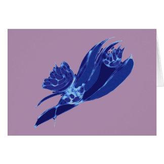 Blue Alien Vegetable Card