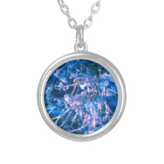 BLUE ALIEN VIRUS SILVER PLATED NECKLACE