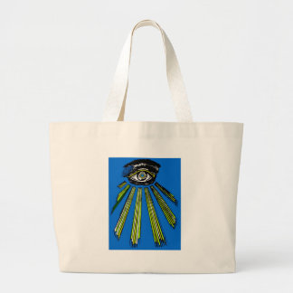 Blue All Seeing Eye Square and Compass Mason Canvas Bag
