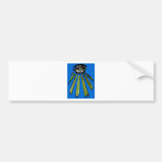 Blue All Seeing Eye Square and Compass Mason Bumper Sticker