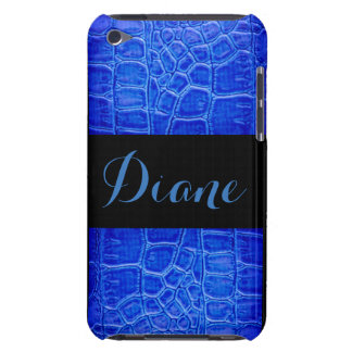 Blue Alligator Skin Print Pattern Design Case-Mate iPod Touch Case