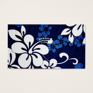 Blue Aloha Hawaii Flowers Business Card