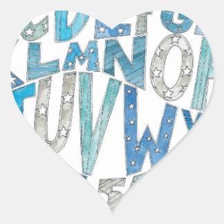 Blue Alphabet Heart Sticker