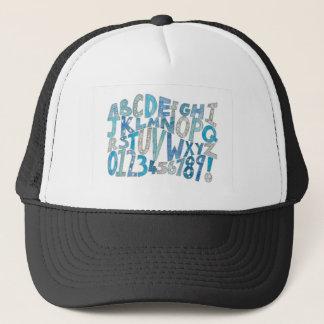 Blue Alphabet Trucker Hat