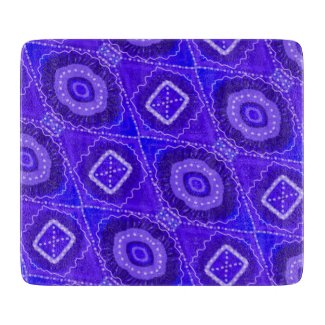 Blue Altar Tile Hoodoo Rootwork Cutting Board