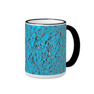 Blue Aluminum Ringer Coffee Mug