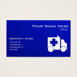 Blue Ambulance Business Card