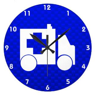 Blue Ambulance Large Clock