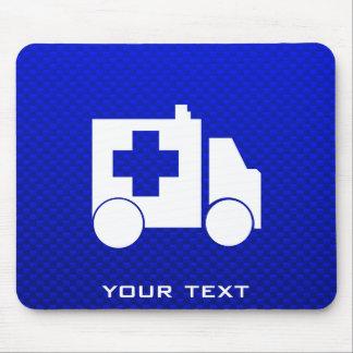 Blue Ambulance Mouse Pad