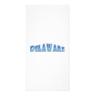 Blue American Flag Delaware Photo Card