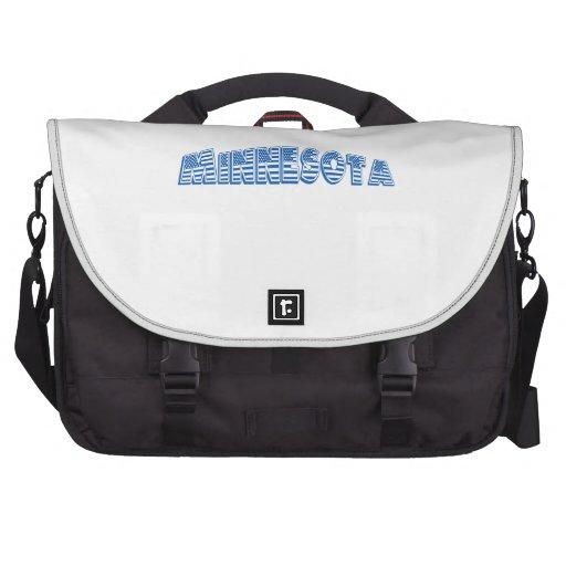 Blue American Flag Minnesota Laptop Messenger Bag