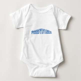 Blue American Flag Pennsylvania Baby Bodysuit