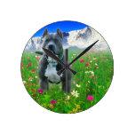 Blue American Pit Bull Terrier, Pikes Peak Round Clock