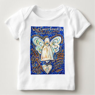 Blue & Gold Cancer Angel - Large Baby T-Shirt