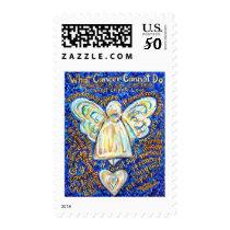 Blue & Gold Cancer Angel - Large Postage