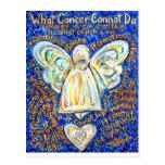 Blue & Gold Cancer Angel - Large Postcard
