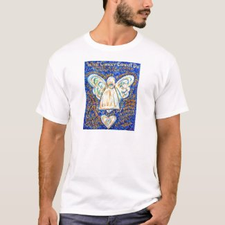 Blue & Gold Cancer Angel - Large T-Shirt