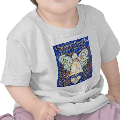 Blue & Gold Cancer Angel - Large Shirts