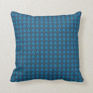 Blue Ampersand Pillow (Lg ampersand design) -