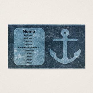 Blue Anchor Add Text/Photo Business Card