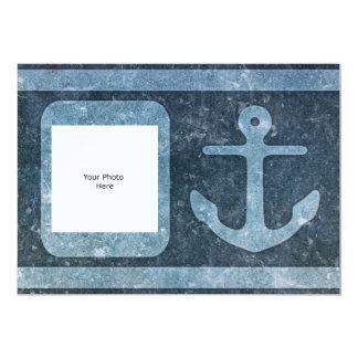 Blue Anchor Add Text/Photo Card