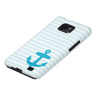 Blue Anchor and Light Blue Sailor Stripes Galaxy SII Cover