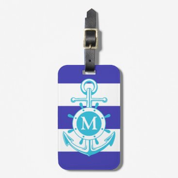 Blue Anchor Bag Tag