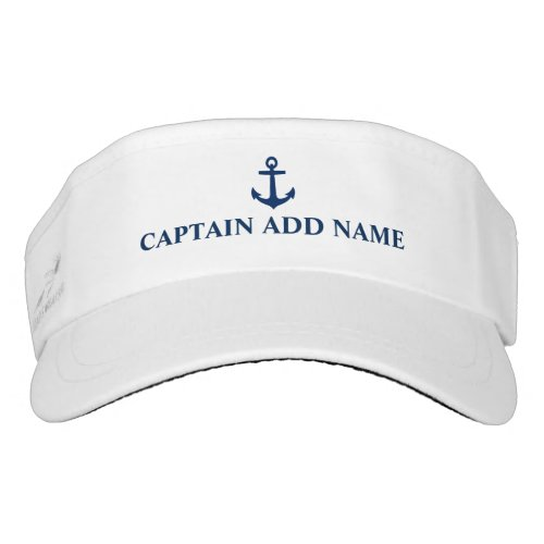 Blue Anchor Captain Add Name Visor