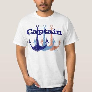 Blue anchor Captain nautical personalized T-Shirt